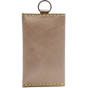 Champagne gold genuine leather 100% keychain coin purse present gift
