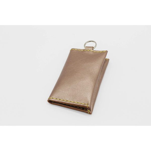 champagne gold genuine leather 100 present gift keychain coin purse present gift 9