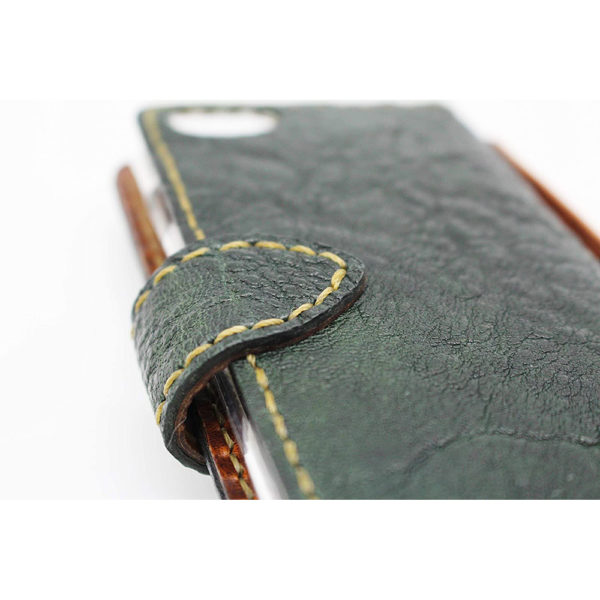 iphone se 7 8 case lether 100 moss green present gift mens ladies iphone se 2 7