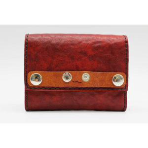 Robotty Leather Pony Dakota Luxury Genuine Leather Wallet All Hand Red