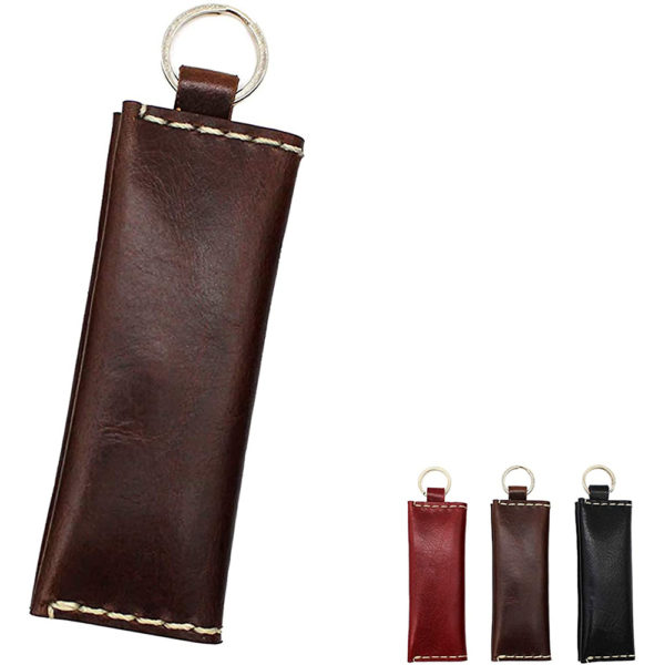 genuine leather red coins accessories key ring gift present 10