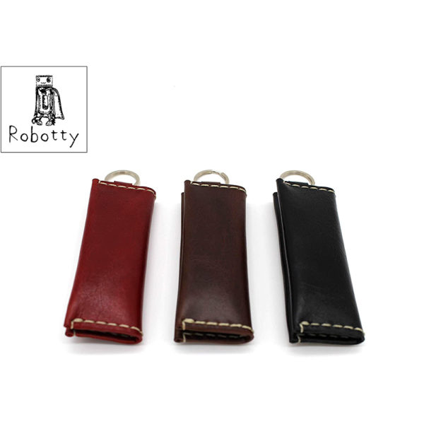 genuine leather red coins accessories key ring gift present 11