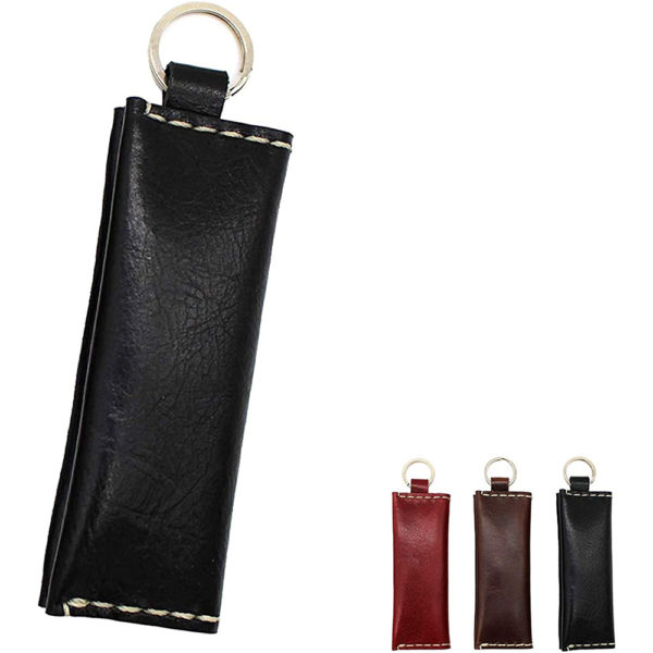 genuine leather red coins accessories key ring gift present 8