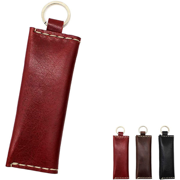 genuine leather red coins accessories key ring gift present 9