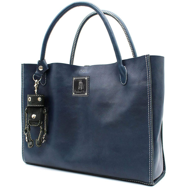 key ring genuine leather bag hand bag blue keyring gift present 3