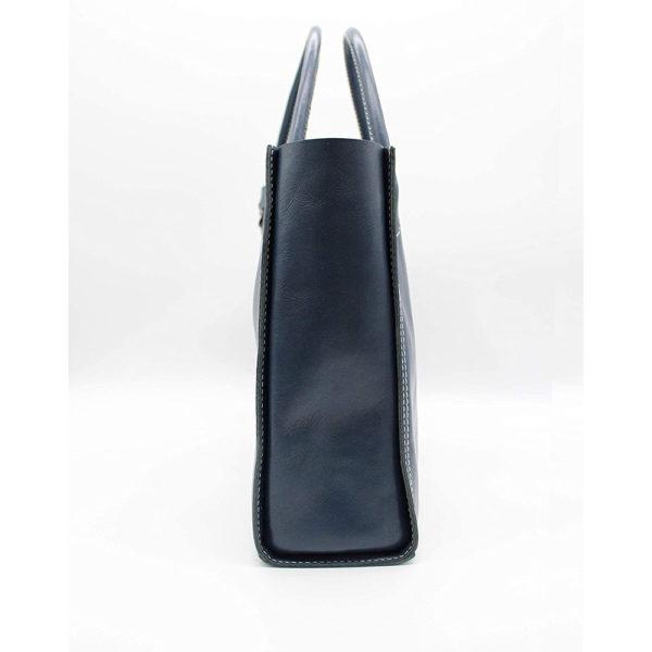 key ring genuine leather bag hand bag blue keyring gift present 4