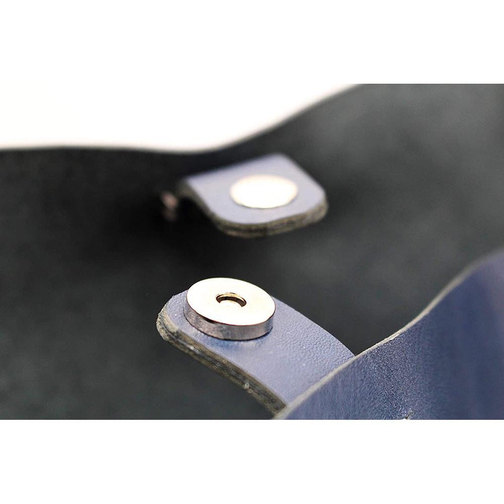 key ring genuine leather bag hand bag blue keyring gift present 6