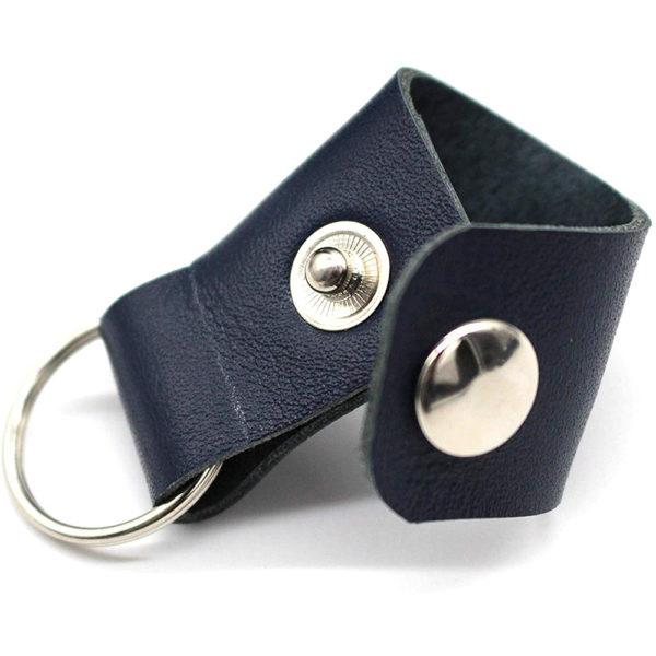 key ring genuine leather bag hand bag blue keyring gift present 7
