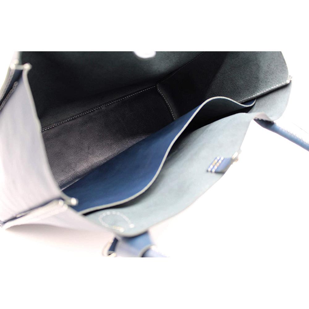 key ring genuine leather bag hand bag blue keyring gift present 8