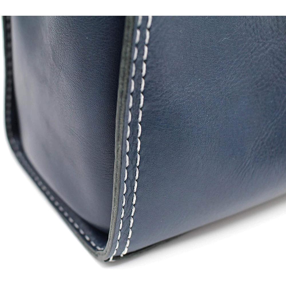key ring genuine leather bag hand bag blue keyring gift present 9