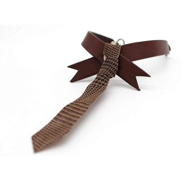 robotty cat callar genuine leather 100 tie present gift fashion 1 2