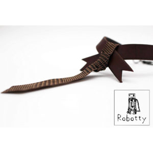 Robotty  Collar genuine leather 100% tie