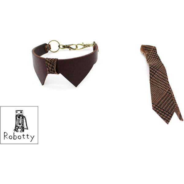 robotty cat callar genuine leather 100 tie present gift fashion 2