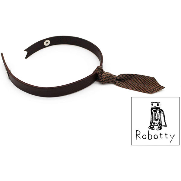 robotty cat callar genuine leather 100 tie present gift fashion 5 1