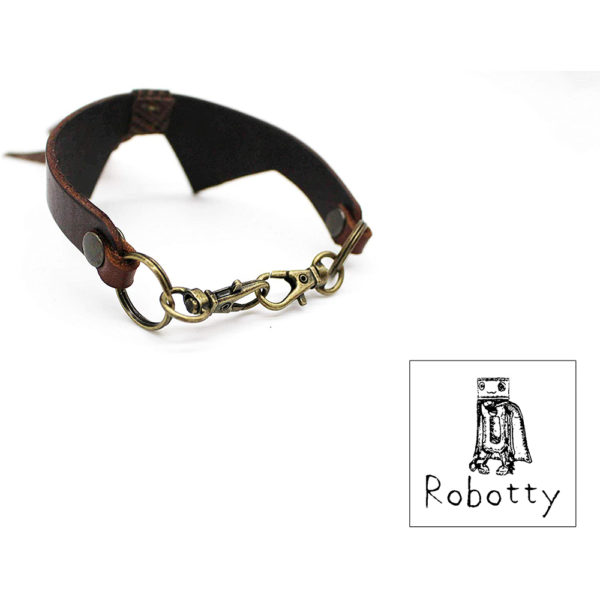 robotty cat callar genuine leather 100 tie present gift fashion 8