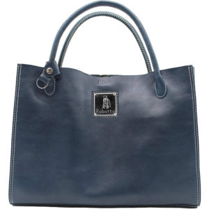 Robotty 100% genuine leather blue handbag blue