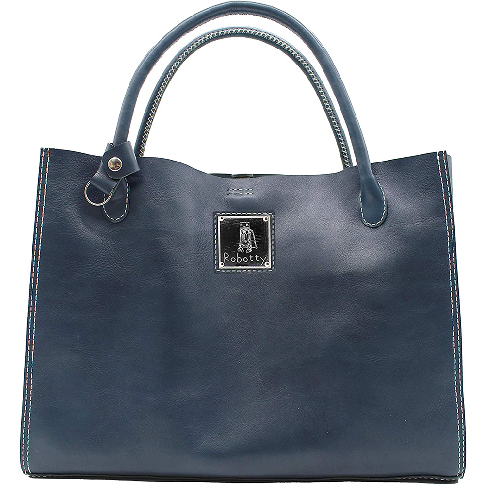 robotty genuine leather blue hand bag all hand gift present japan 1