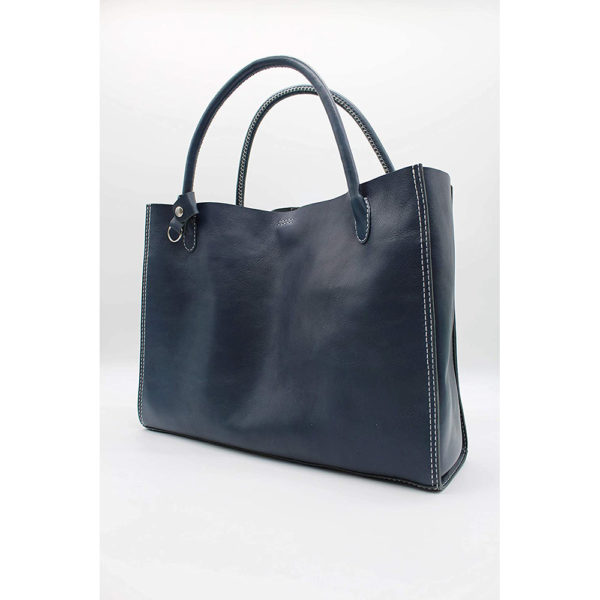 robotty genuine leather blue hand bag all hand gift present japan 3