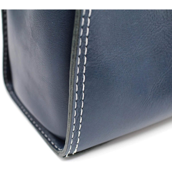 robotty genuine leather blue hand bag all hand gift present japan 8