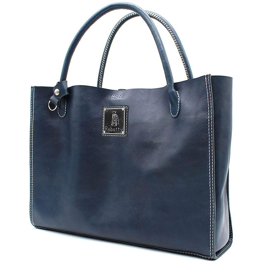 robotty genuine leather blue hand bag all hand gift present japan 9