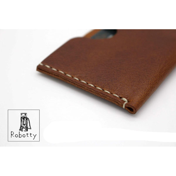 robotty genuine leather card case business card holder accessory gift present 4