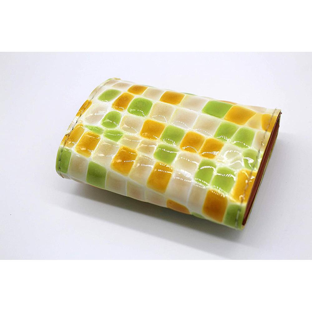 robotty genuine leather lemonade color enamel crocodile wallet present gift 1