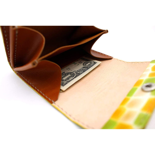 robotty genuine leather lemonade color enamel crocodile wallet present gift 5