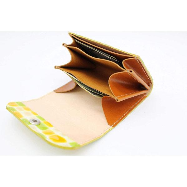 robotty genuine leather lemonade color enamel crocodile wallet present gift 6
