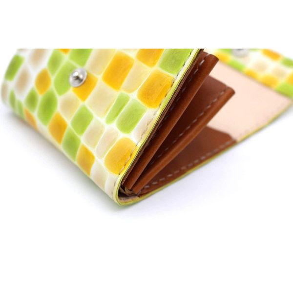robotty genuine leather lemonade color enamel crocodile wallet present gift 7