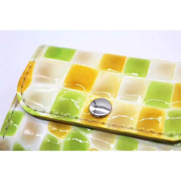 robotty genuine leather lemonade color enamel crocodile wallet present gift 8