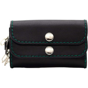 Robotty Original Leather 100% Wallet Genuine Leather Black Green