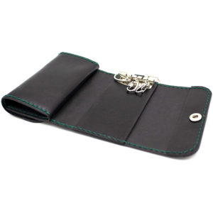 Robotty Original Leather 100% Wallet Genuine Leather Black Green
