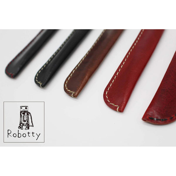 robotty pencase single fountain pen pouch leather genuine gift present 4