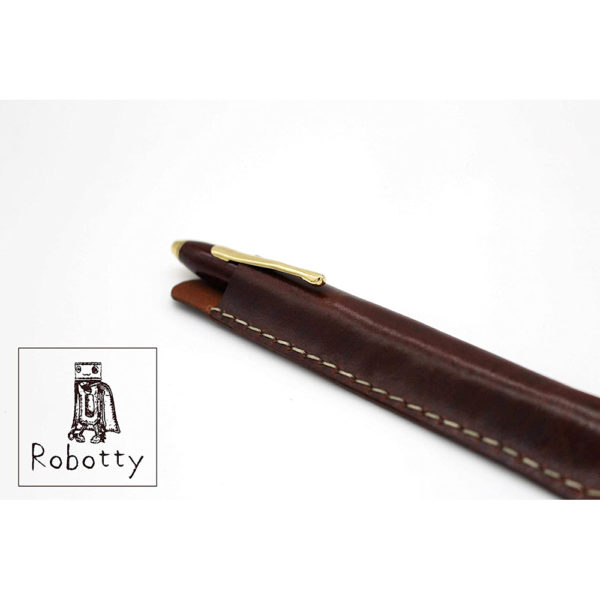 robotty pencase single fountain pen pouch leather genuine gift present 5