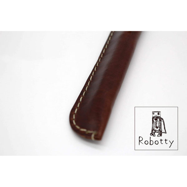 robotty pencase single fountain pen pouch leather genuine gift present 6