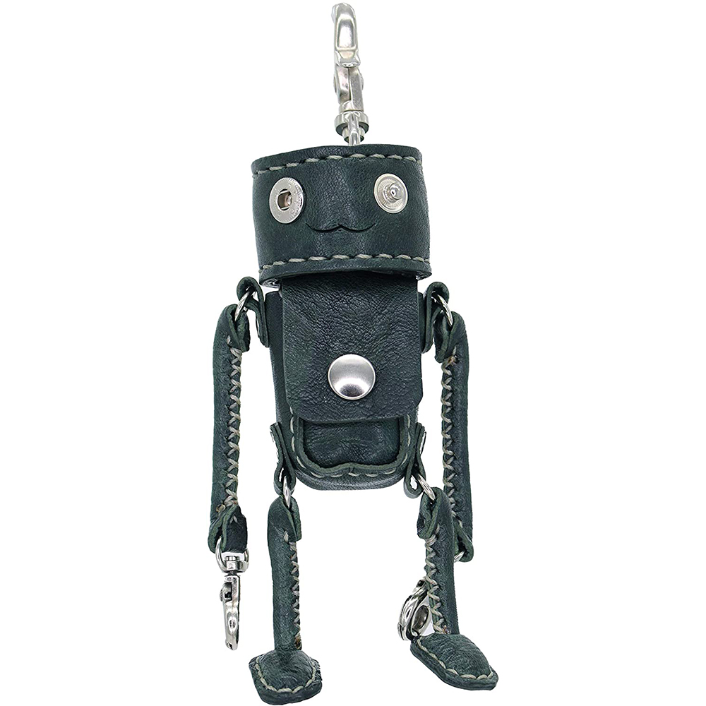 大人かっこいい 渋さで決める 本革 レザー ブラック ハンドバッグ Robotty (ロボティー)