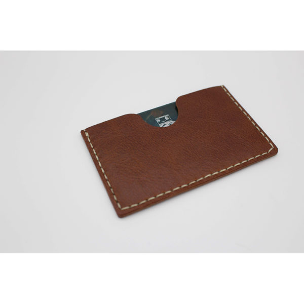 robotty robot genuine leather card businesscard holder accessory brown 2