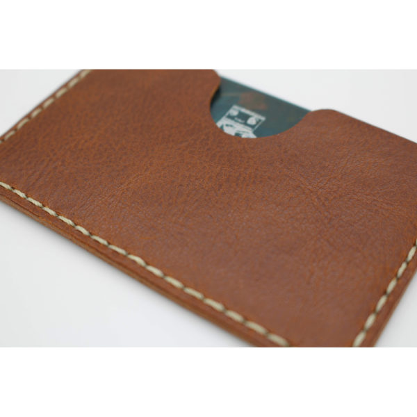 robotty robot genuine leather card businesscard holder accessory brown 9