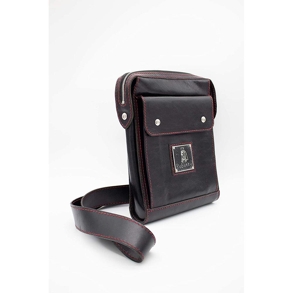 shoulder bag japan leather robotty gift present black mens ladies all hand 3